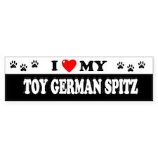 TOY GERMAN SPITZ Bumper Bumper Sticker