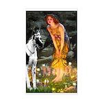 Fairies / Gr Dane (h) Sticker (Rectangle)