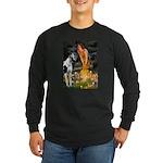 Fairies / Gr Dane (h) Long Sleeve Dark T-Shirt