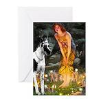 Fairies / Gr Dane (h) Greeting Cards (Pk of 20)