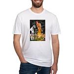 Fairies / Gr Dane (h) Fitted T-Shirt