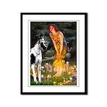 Fairies / Gr Dane (h) Framed Panel Print