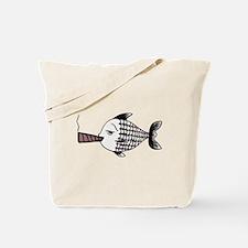 Smoking Fish Tote Bag