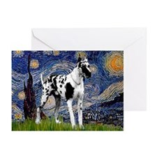 Starry / Gr Dane (h) Greeting Cards (Pk of 10)
