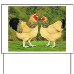 Wyandotte Rooster and Hen Yard Sign