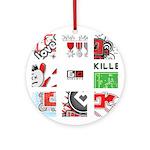 Six Love Tennis - Tennis Brand Round Ornament