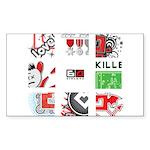 Six Love Tennis - Tennis Brand Sticker