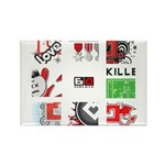 Six Love Tennis - Tennis Brand Magnets