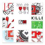 Six Love Tennis - Tennis Brand Square Car Magnet 3