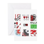 Six Love Tennis - Tennis Brand Greeting Cards