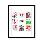 Six Love Tennis - Tennis Brand Framed Panel Print