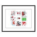 Six Love Tennis - Tennis Brand Large Framed Print