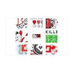 Six Love Tennis - Tennis Brand Wall Decal