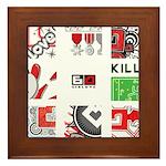 Six Love Tennis - Tennis Brand Framed Tile