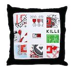 Six Love Tennis - Tennis Brand Throw Pillow