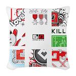 Six Love Tennis - Tennis Brand Woven Throw Pillow