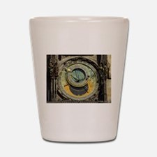 Prague Astronomical Clock Tower in Old Shot Glass