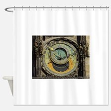 Prague Astronomical Clock Tower in Shower Curtain