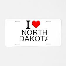 I Love North Dakota Aluminum License Plate