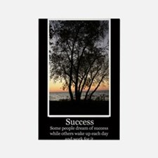 Work For Success Rectangle Magnet (10 pack)