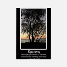 Work For Success Rectangle Magnet