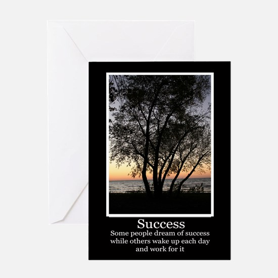 Work For Success Greeting Card