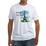 """We'll always have Paris"" #1 Fitted T-Shirt"