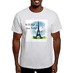 """We'll always have Paris"" #1 Ash Grey T-Shirt"