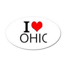 I Love Ohio Wall Decal
