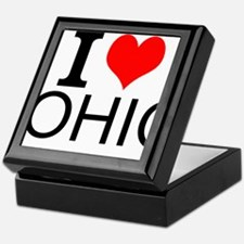 I Love Ohio Keepsake Box