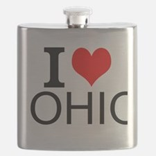 I Love Ohio Flask