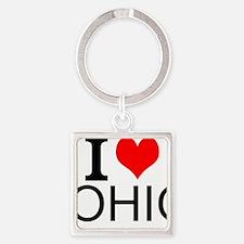 I Love Ohio Keychains