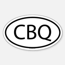 CBQ Oval Decal