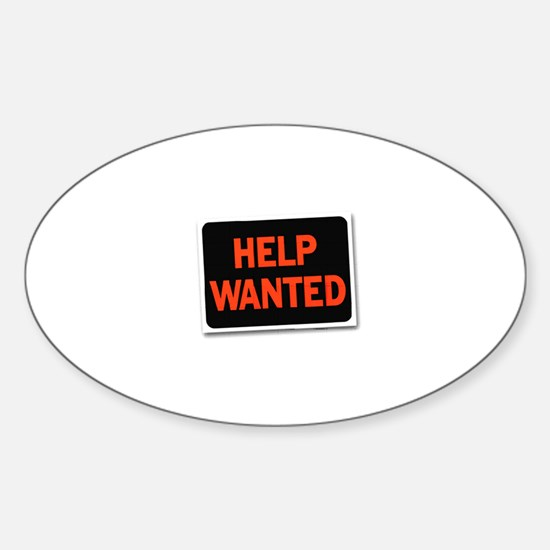 Help Wanted Oval Decal