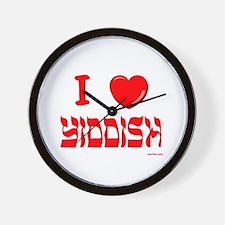I Love Yiddish Wall Clock