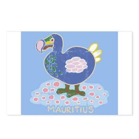 Colorful dodo Postcards (Package of 8)