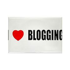 I Love Blogging Rectangle Magnet