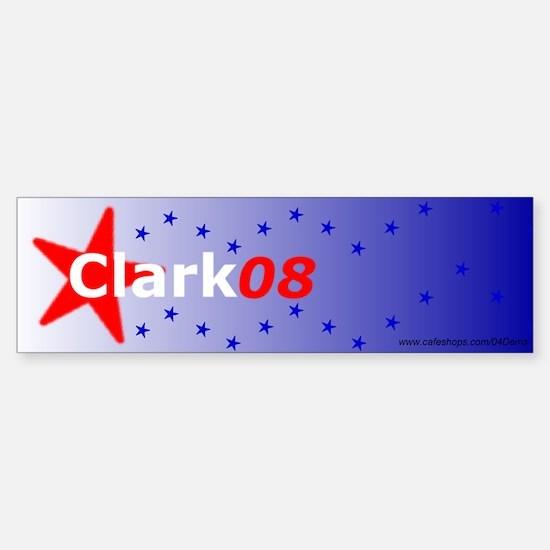 """Clark for Prez"" Bumper Car Car Sticker"