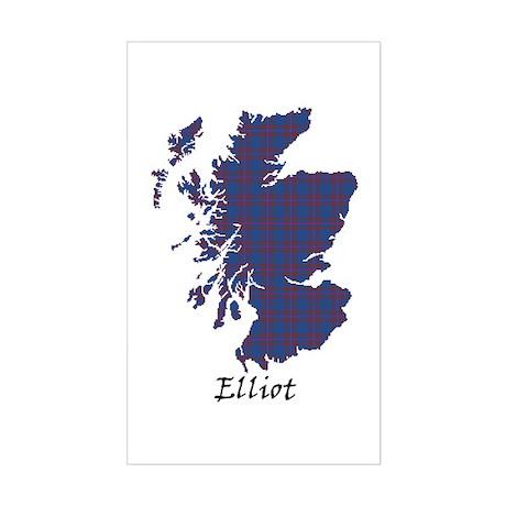 Map - Elliot Sticker (Rectangle)