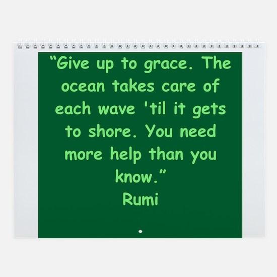 Wisdom Of Rumi Wall Calendar