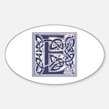 Monogram - Elliot Sticker (Oval)