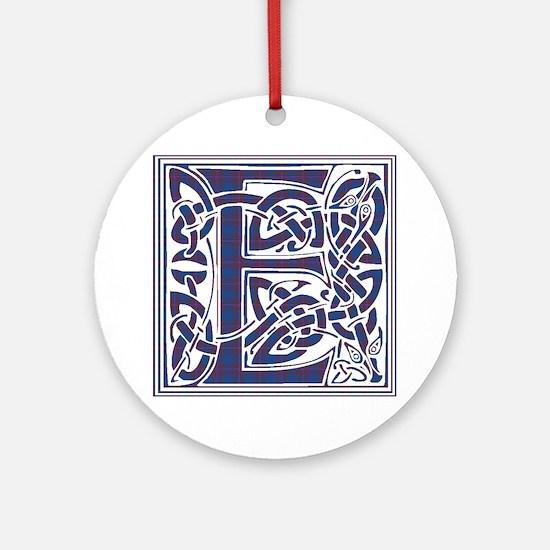 Monogram - Elliot Ornament (Round)