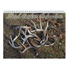 Whitetail Deer Shed Antler Wall Calendar
