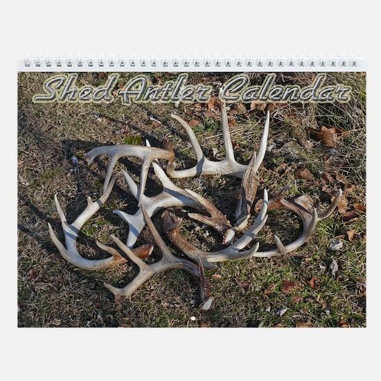 Whitetail Deer Shed Antler Wall Calendar
