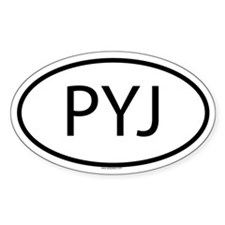 PYJ Oval Decal