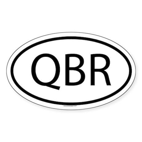 QBR Oval Sticker