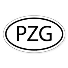 PZG Oval Decal