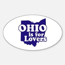 Ohio is for Lovers Oval Decal