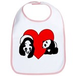 Panda Bear Love Bib