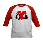 Panda Bear Love Kids Baseball Jersey